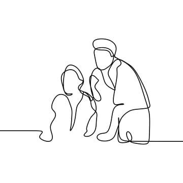 Two Worker Take A Discussion Continuous Line Drawing Office Concept Vector Illustration Minimalist Design People Doodle Laptop Computer Png And Vector With T Continuous Line Drawing Line Drawing Vector Illustration