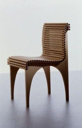 High Quality Carta Series 1998 By Shigeru Ban. Simple Cardboard Structured Chair.
