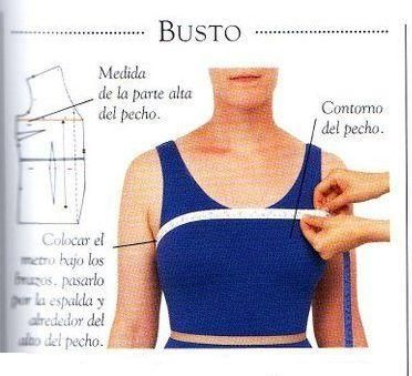 como se mide busto cintura y cadera