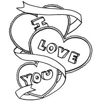 I Love You Coloring Pages - FamilyFunColoring