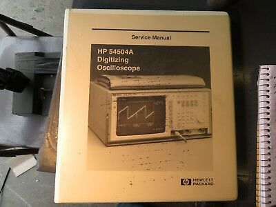 Sponsored Ebay Hp 54504a Igitizing Oscilloscope Service Manual 4315 In 2020 Manual Ebay Bloomfield