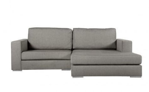Designer eckcouch  Gavino Sofa Couch Ecksofa mittelgrau B 244 cm / T 180 cm / H 83 cm ...