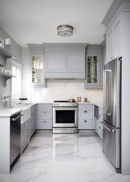 23 White Kitchens Without Wood Floors Kitchen Cabinet Design