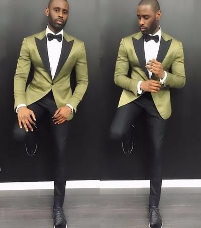 Double Breasted Groomsmen Peach Groom Tuxedos Peak Lapel Men/'s Wedding Suits