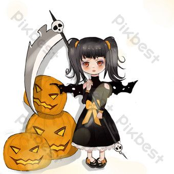 Cute Cartoon Witch Q Version Cartoon Witch Hand Drawn Witch Png Images Psd Free Download Pikbest Cartoon Witch Cat Illustration Cute Cartoon