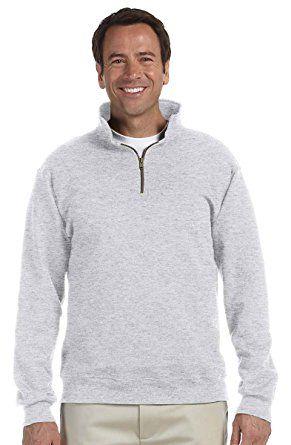 2X-Large Jerzees Adult Super Sweats Quarter-Zip Cadet Collar Sweatshirt