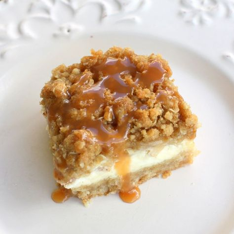 Caramel apple cheesecake bars. These look delicious!