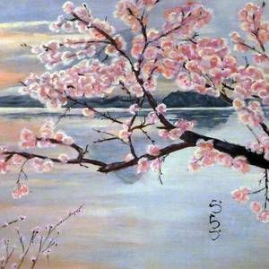 Fujisan No Sakura By Vlad Grigore Sakura Painting Cherry Blossom Painting Sakura