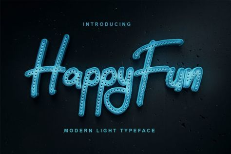 HappyFun (Font) by Vunira · Creative Fabrica