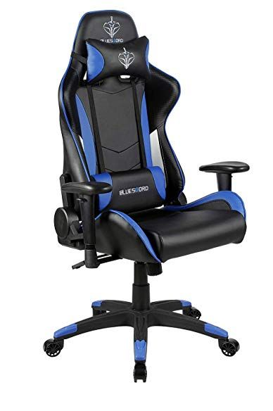 Enjoyable Blue Sword Gaming Chair Adjustable High Back Racing Chair Squirreltailoven Fun Painted Chair Ideas Images Squirreltailovenorg