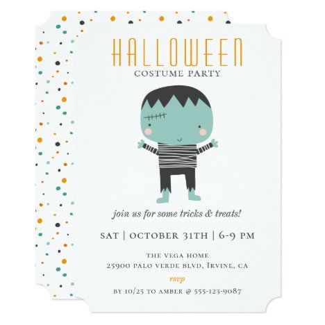 Halloween Costume Party Invitation 2020 Cute Monster Halloween Costume Party Invitation in 2020