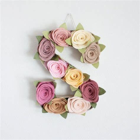Letter A Floral Decoration Images Felt Flower Letter Decor Quot Secret Garden Quot Letter S On 22687 Cicek Kendin Yap