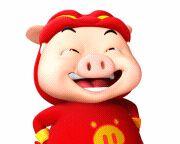 13 3D lovely Superman pig emoticons gif