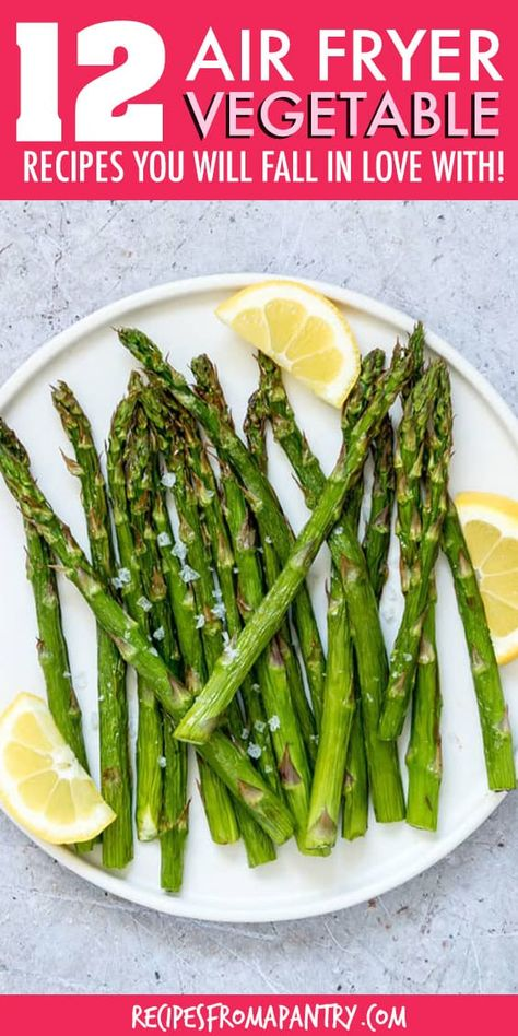 These 10 Amazing Air Fryer Vegetable Recipes are the cure for bland, boring veggies! Enjoy easy and healthy vegetable side dishes and snacks that are so simple and convenient with the air fryer. All it takes is a few minutes and a tiny bit of oil to serve up totally crave-worthy veggies that are tender in the middle and delightfully crunchy on the outside. Great for beginners! #airfryer #airfryerrecipes #healthyairfryerrecipes #airfryervegetables #eatyourveggies #airfried #air-fryer #...