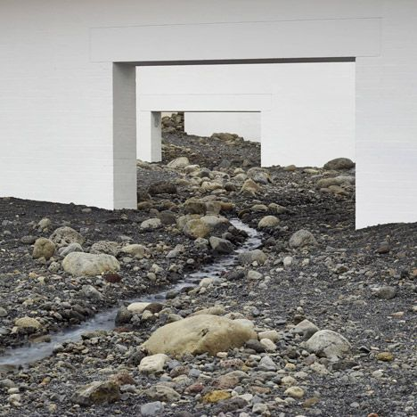 Olafur Eliasson fills modern art museum with giant landscape of rocks - Dezeen