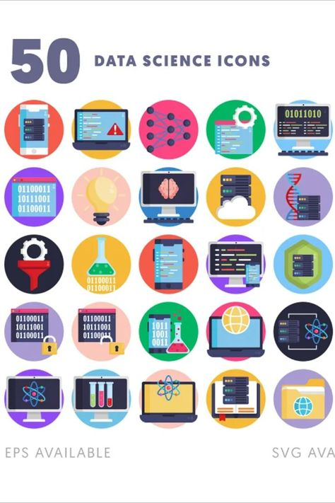 50 Data Science Icons