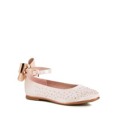 pink diamante ankle strap pumps