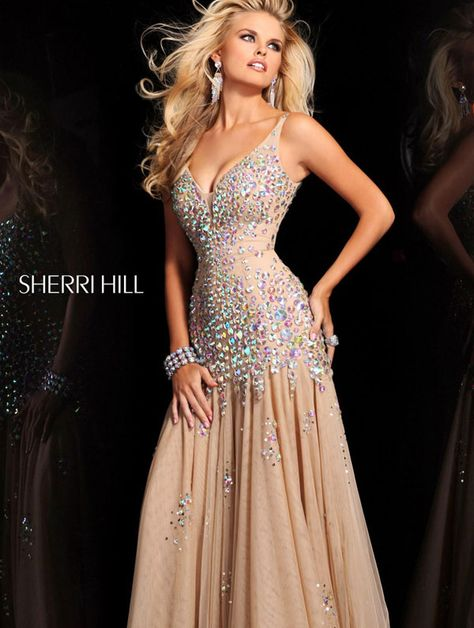 Im not a big jewel fan but Im diggin this dress! Sherri Hill 2972 Prom Dress 2013