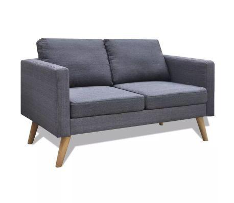 Vidaxl Sofa 2 Sitzer Stoff Dunkelgrau Von Vidaxl