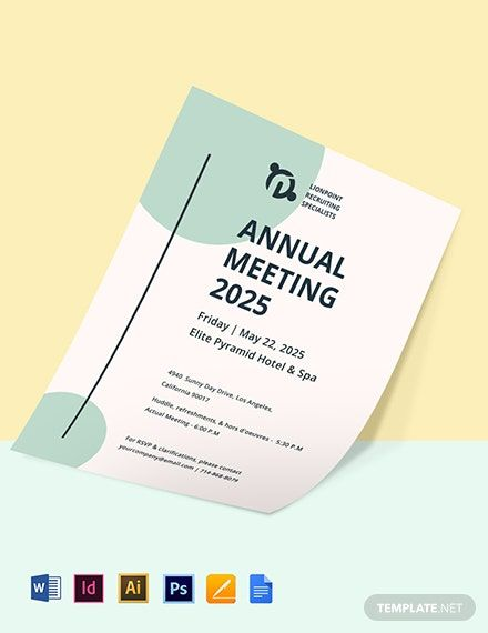 Annual General Meeting Invitation Template Invitation Template Templates Party Invite Template