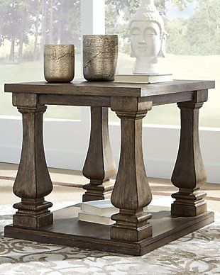 Johnelle Dining Room Extension Table Gray In 2020 End Tables