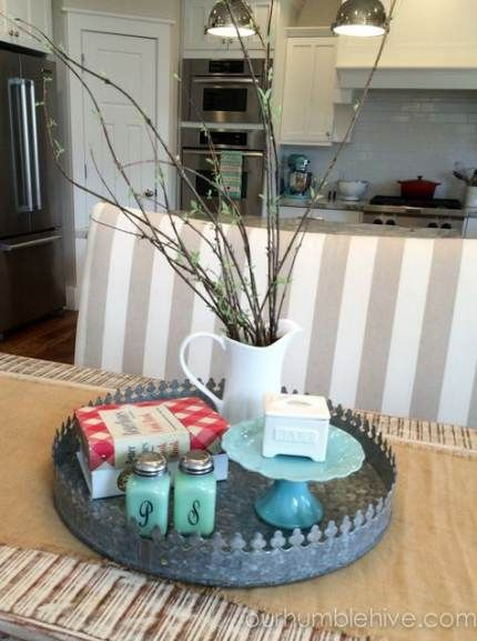 Kitchen Table Centerpiece With Napkins 30 Ideas Dining Room Table Centerpieces Dining Room Centerpiece Kitchen Table Centerpiece