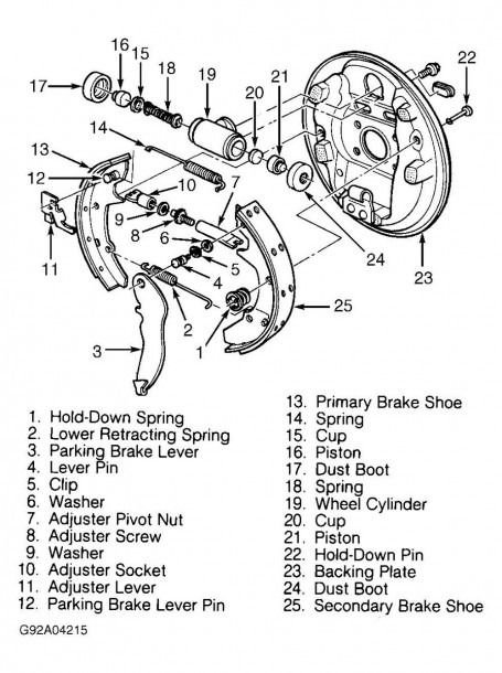 2002 Ford Focus Rear Brakes Diagram | Ford focus, Rear brakes, DiagramPinterest