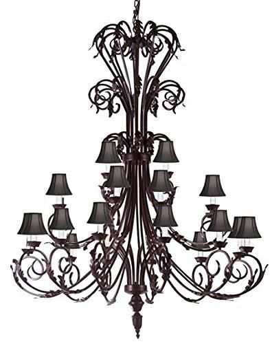 Large Foyer Entryway Wrought Iron Chandelier 50 Inches Tall