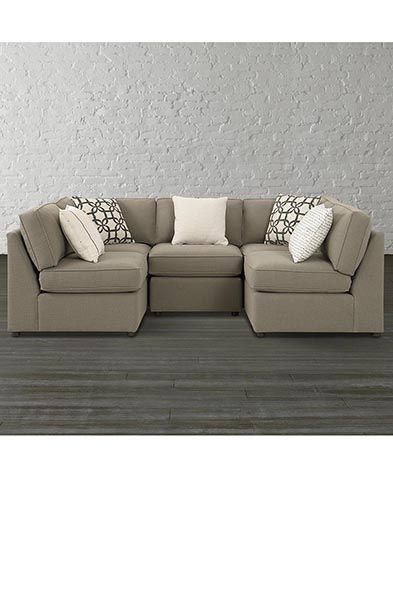 Small Sectional conscendo dallas small u-shaped sectional sofa | family