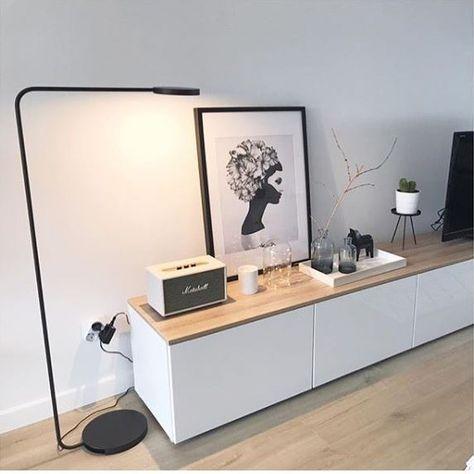 """1,954 mentions J'aime, 16 commentaires - IKEA FRANCE (@ikeafrance) sur Instagram: """"#regram Chez @scandi_mandine la lampe YPPERLIG sublime le meuble BESTÅ et sa jolie déco. On adore…"""""""
