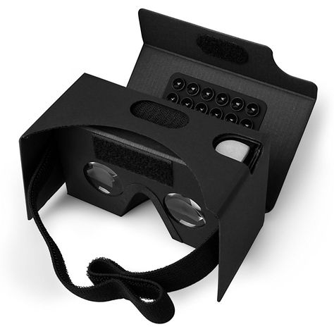 Black Cardboard VR Glasses
