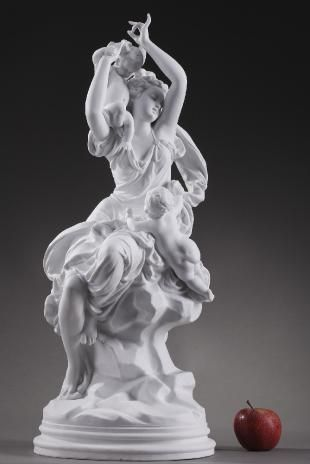 Carrier Belleuse Nymph With Cupids In 2020 Nymph French Statue Deco Statue