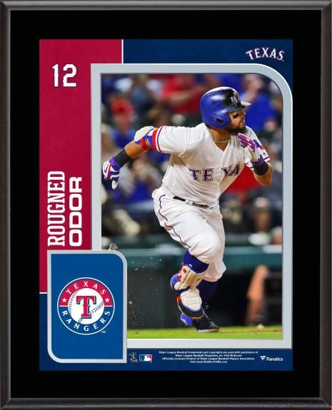 Rougned Odor Texas Rangers 10 5 X 13 Sublimated Player Plaque Odor Texas Rangers Texas Rangers Rougned Odor