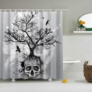 New Skull Trees Shower Curtain With Images Skull Shower