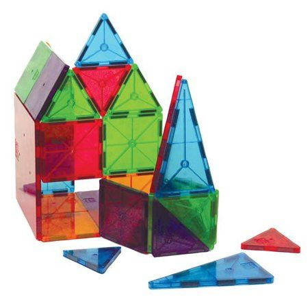 Magna Tiles 100 Piece Clear Colors Set The Original Award Winning Magnetic Building Tiles Creativity And Educational Stem Approved Walmart Com In 2020 Magna Tiles Magnetic Building Tiles Creative Toy