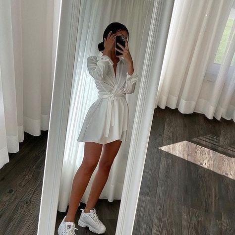 Collect Waist Mini Shirt Dress