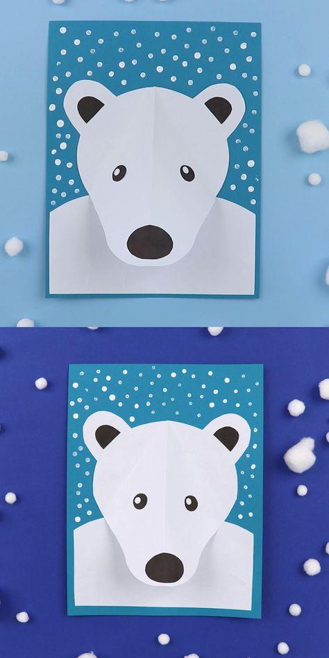 3D Polar bear portrait