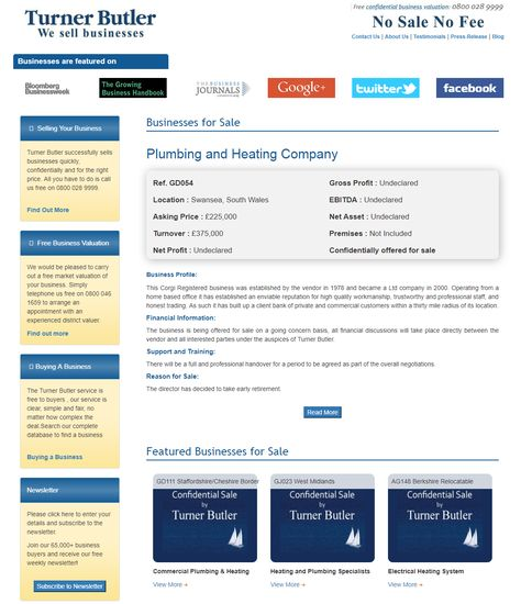 Best Time To Buy Plumbing And Heating Business Turner Butler Specialises In This Sector This Corgi Registered Plumbing Sell Your Business Business Valuation