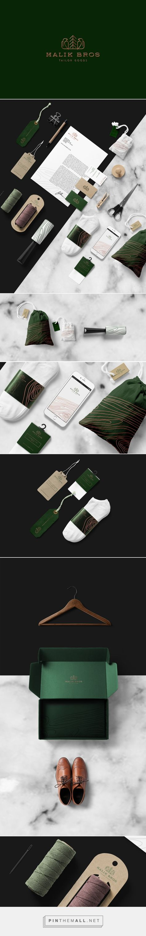 Art direction, branding and packaging for Malik Bros Tailor Goods on Behance by Sebastian Bednarek Warsaw, PL curated by Packaging Diva PD. Provides you with the finest hand-made, custom attire, tailored just for you.