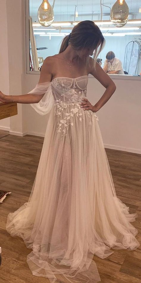 A-Line Wedding Dresses 2020/2021 Collections Overview ❤ a line wedding dresses a line strapless neckline sweetheart beach lizmartinez #weddingforward #wedding #bride