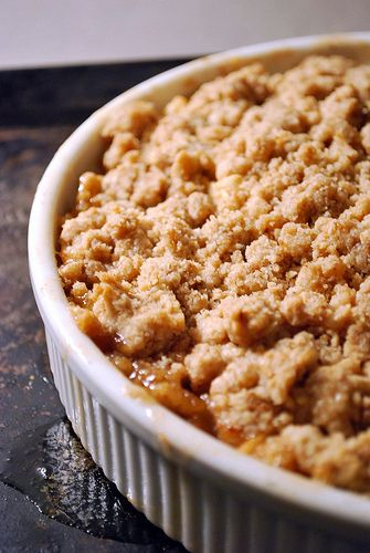 apple crisp - gluten free dairy free 4 medium sized apples, peeled and cubed 1/4 c plus 1/3 c sugar, separated two pinches of salt 1 t cinnamon 1/3 c brown sugar (packed) 1 1/4 c rice flour mix 1/2 t xanthan gum 7 T butter, melted