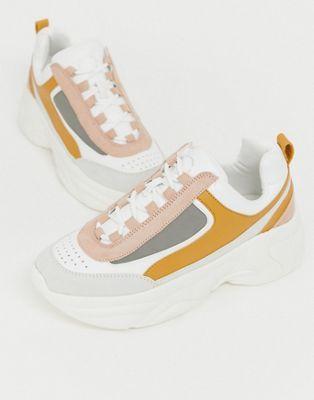 Pull\u0026Bear chunky sneaker in multi