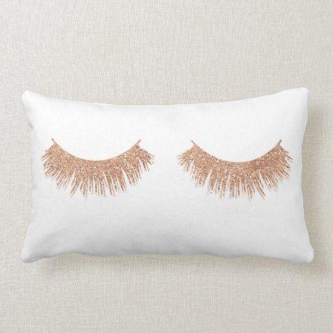Modern Stylish Eyelashes Makeup Glam Throw Pillow Zazzle Com Throw Pillows Trendy Pillow Glam Pillows