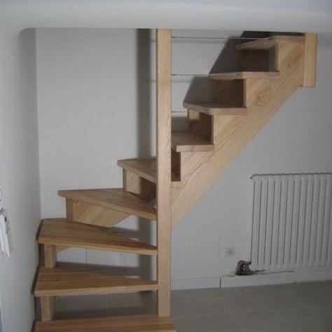 Escalier En Frene 1 4 Tournant Bas Sans Contre Marche Sur