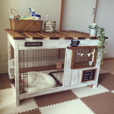 Dog owners have to consider several factors when buying or building a house for … – large dog kennel Animal Room, Pet Bunny Rabbits, Bunnies, Dog Room Decor, Diy Dog Crate, Dog Crate Table, Wooden Dog Crate, Dog Crate Cover, Bunny Cages