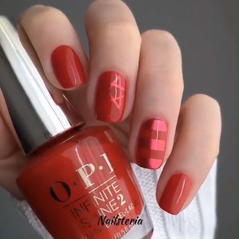 A tutorial for amazing short nails! Red now looks awesome even on red nails!! #shortnail