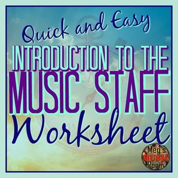 Intro To The Music Staff Printable Pdf Worksheet Elem Music Use For Sub Elementary Music Teacher Elementary Music Music Classroom