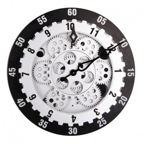 12 Inch Large Gear Wall Clock Fashion Creative Living Room Decoration Wall Clocks Gear Wall Clock Large Gear Wall Clock Clocks Fashion