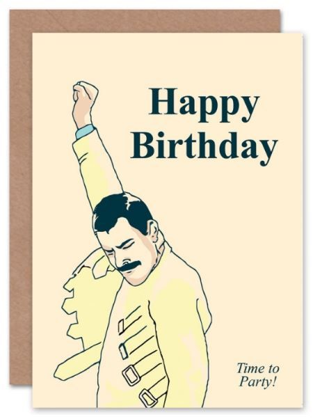 7.5 FREDDIE MERCURY EDIBLE ICING BIRTHDAY CAKE TOPPER