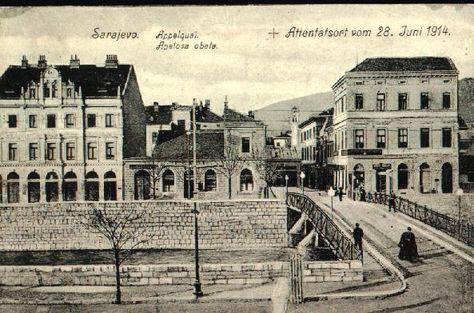Sarajevo 1914 The Place Where Archduke Franz Ferdinand Of